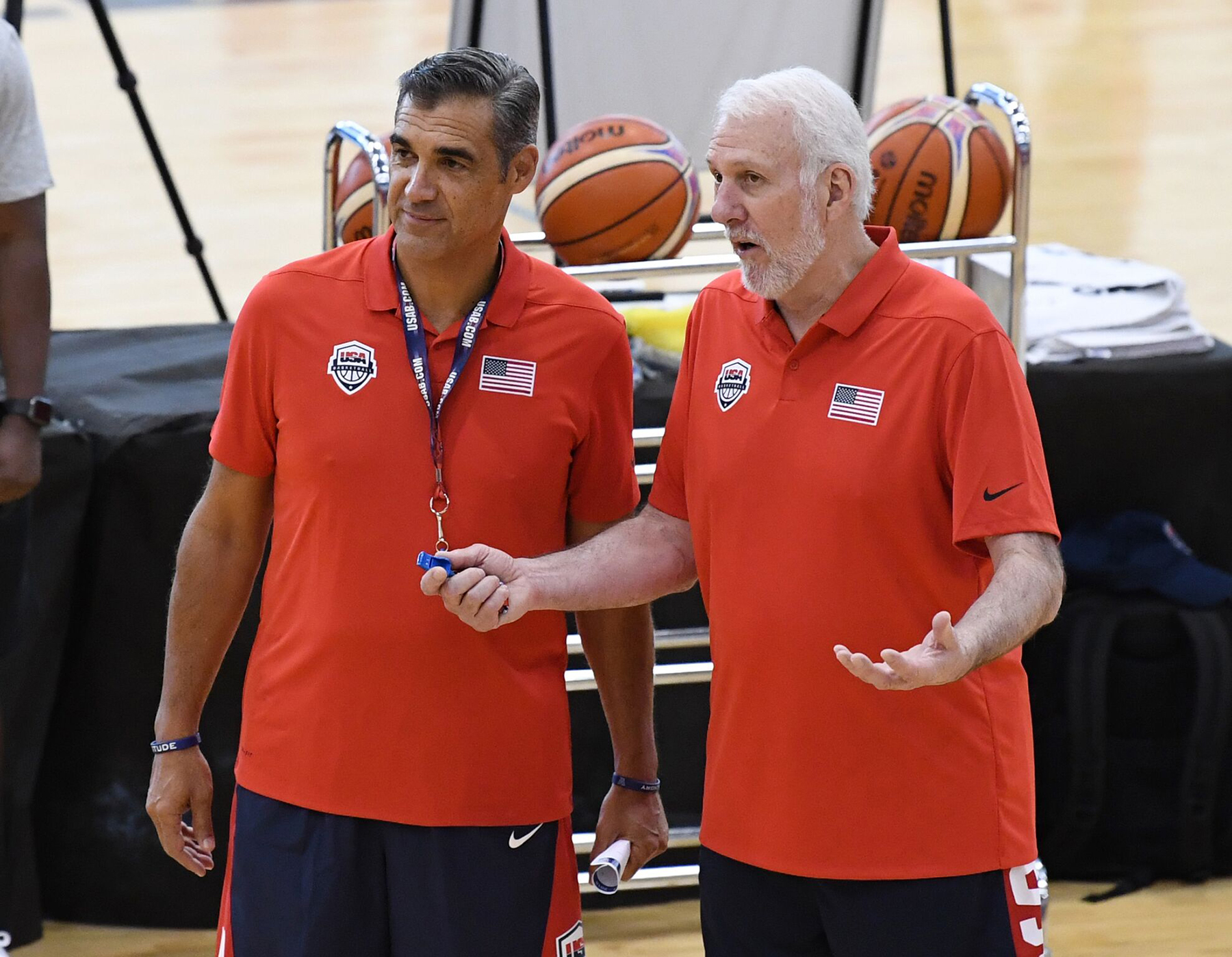 Jay Wright with USAMNT Head Coach Greg